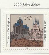 PIA -GER-  1992  : 25° Anniversario Della Città Di Erfurt   -  (Yv 1439) - [7] République Fédérale