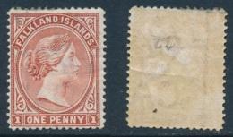 FALKLANDS, 1891 1d Venetian Red MM, SG22, Cat £25 - Falklandeilanden