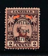EAST AFRICA COMPANY, 1897 2As Fine MM, Cat £50 - África Oriental Británica