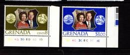 GRENADA    1972    Royal  Silver  Wedding    Set  Of  2    MNH - Grenada (...-1974)