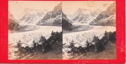 Frankrijk/ La France, Stereoscoopfoto, Montanvert, Mer De Glace, Ca. 1920 - Stereoscoop