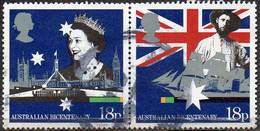 GREAT BRITAIN 1988 Bicentenary Of Australian Settlement: 18p Horizontal Pair - Used Stamps