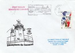 Fosit TOULON - Sémaphore De CAMARAT - Cachet Flamme Ramatuelle Var 2004 - Marcofilia (sobres)
