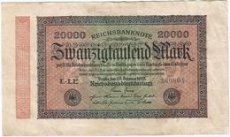Alemania - Germany 20.000 Mark 20-2-1923 Pk 85 B  Ref 69-2 - 1 Million Mark