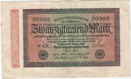 Alemania - Germany 20.000 Mark 20-2-1923 Pk 85 B Ref 69-3 - [ 3] 1918-1933 : República De Weimar