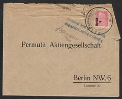 1929 - Dt.Reich 8Pf EF(Mi.414) - Stempel BESCHÄDIGT BEIM P.A 6 BERLIN / EINGEGANGEN AMTLICH VERSCHLOSSEN - Selten - Briefe U. Dokumente