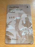 Hotelkarte Room Key Keycard Clef De Hotel Tarjeta Hotel ROYAL MIRAGE DUBAI  THE PALACE - Telefonkarten