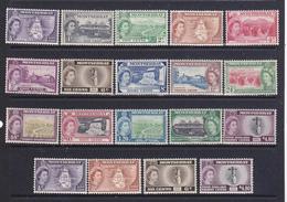 Montserrat 19553-58 Elisabetta II P:O:Serie  Cpl. 19 Val. Gibbons  136a-149,+136b,139a,142a149a MNH** - Montserrat