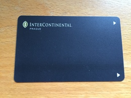 Hotelkarte Room Key Keycard Clef De Hotel Tarjeta Hotel  INTERCONTINENTAL PRAGUE - Télécartes
