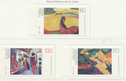 PIA  -  GERMANIA  -  1992  : Pittori Tedeschi Del XX° Secolo  -  (Yv  1445-47) - Moderni