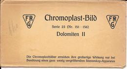 Italië/Italia, Stereoscoopfoto, Chromoplast, Dolomiten II, Serie 23, 6 Foto's, Ca. 1925 - Stereoscoop