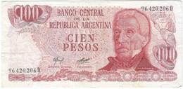 Argentina 100 Pesos 1977 Pk 302 A.2 Firmas Camps - Diz Ref 99-2 - Argentina