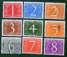 Krimpen Cijfer Zegels NVPH 460-468 (Mi 468-471 613-614 691) 1946 Gestempeld / Used NEDERLAND / NIEDERLANDE - Gebraucht