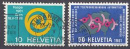 HELVETIA - SUISSE - SVIZZERA - 1961 - Lotto Di 2 Valori Usati: Yvert 674 E 676. - Usati