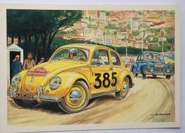 (871) Volkswagen - 385 - Rallye Monte Carlo - Rode Kruis - Alain Chevrier - Publicité