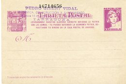 CARTE POSTALE PARTICULIERE  - - España