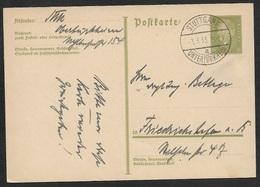 1933 - GS PK 6Pf (Mi.P199) Datum 3.3.33 Stuttgart Nach Friedrichshafen - Briefe U. Dokumente
