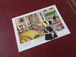 Bretonne  MAM-GOZ Illustrateur LE CORRE  Agent De Police 2cv Citroen Moto Feu Tricolore    Bretagne N ° 5 - Contemporanea (a Partire Dal 1950)