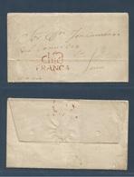 "PERU. 1847 (23 Nov) Chiclayo - Lima. EL Full Text Red Doble Line ""Chicl / FRANCA"" Cachet (xxx) Fine + Scarce. - Peru"