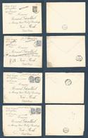BELGIUM. 1900. Val St. Lambert, Anvers - USA, NYC. 4 Fkd + Perfin Covers With 4 Diff + Flemish + Names Vadeland, Noordla - Belgium