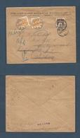 DENMARK. 1929 (27 June) Kph - Vedbak (27 June) Fkd 5 Ore Env + Taxed + Arrival 2ore (x2) Rate Postage Dues Added. Fine + - Non Classés