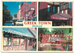 CP DETROIT ( Michigan ) - GREEKTOWN - GREEK TOWN - 4 Vues - 4 Views - Detroit