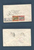 BC - Dominica. 1930 (July 23) GPO - USA, NYC (Aug 1) Registered Fkd Env, At 4 1/2d Rate + R-label. Fine. - Unclassified