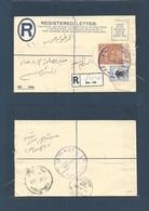 SUDAN. 1961 (27 March) Wad Ez Zaki - Khartown (9 Apr) Registered Local 4 1/2p Brown + Adtl Stationary Envelope. Lilac Pr - Sudan (1954-...)