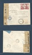 Argentina - XX. 1941 (23 Ene) Universidad Del Litoral, Santa Fe - Canada, Toronto (20 Febr) Via Montral (18 Febr) Offici - Argentina