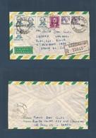Brazil - XX. 1965 (27 Nov) Santana - South Africa, E. Mowbray. Capetown. Air Registered Multifkd Env. Very Nice. - Brasilien