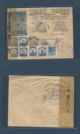 Brazil - XX. 1942 (23 March) Parnaiba, Pianhy - Canada, Toronto. Registered Censored Multifkd Ilustrated Envelope + R-ca - Brasilien