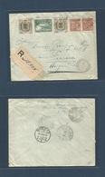 Brazil - XX. 1924 (26 Ago) Barra Do Pirahy - Switzerland, Horgen (19 Sept) Commemorative Issue. Registered Multifkd Env. - Brasilien