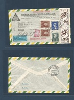 Brazil - XX. 1962. San Bernardo Do Campo - Switzerland, Zurich (7 Aug) Registered Air Ilustrated Multifkd Comm Issue Env - Brasilien