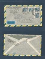 Brazil - XX. 1951 (17 July) Santo André - USA, NYC. Air Multifkd Env. VF Used. - Brasilien