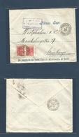 Brazil - XX. 1927 (5 March) Barrio De S. Antonio, Pernambuco - Germany, Hamburg (4 April) Multifkd Envelope. Casa Miseri - Brasilien