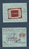 Brazil - XX. 1922 (Aug) Blumenau, Sta. Catharina - Germany, Hamburg (15 Sept) Multifkd Env At 300rs (150 Rs Lilac Post) - Brazil