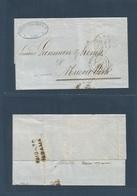"Brazil - XX. 1862 (14 Enero) Lima - USA, NYC. EL Full Text Via Panama BPO (Jan 22) + Reverse ""PAID TO PANAMA"" Which Woul - Brasilien"
