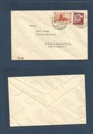 Sarre. 1935 (1 March) Neunkirchen - Rudolfstadt. Mixed Usage SAAR + Deutsch Keich, Cds. Fkd Env. - Superman