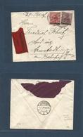 Sarre. 1920 (31 March) Neunkirchen - Arnstadt Express Multifkd Envelope. MIXED OVERPRINT TYPES, Cds. Fine + Unsual. - Superman