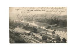 Yvoir  Le Pont Et La Meuse (1914). - Yvoir