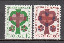 Norway MNH Michel Nr 570/71 From 1968 / Catw 3.00 EUR - Noorwegen
