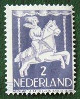 2 + 2 Ct Kinderzegel Child Welfare Kinder Enfant NVPH 469 (Mi 472) 1946 Gestempeld / Used NEDERLAND / NIEDERLANDE - Period 1891-1948 (Wilhelmina)