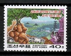 Korea North 2000 Corea / Vegetables Potatoes MNH Verduras Patatas Papas Gemüse / Cu12621  40-14 - Vegetables