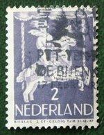 2 + 2 Ct Kinderzegel Child Welfare Kinder Enfant NVPH 469 (Mi 472) 1946 Gestempeld / Used NEDERLAND / NIEDERLANDE - Gebraucht