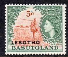 LESOTHO  - 1966 5c DEFINITIVE STAMP WMK BLOCK CA FINE MOUNTED MINT MM * SG 115B - Lesotho (1966-...)