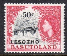 LESOTHO  - 1966 50c DEFINITIVE STAMP WMK BLOCK CA FINE MOUNTED MINT MM * SG 119B - Lesotho (1966-...)