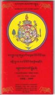 CALENDARIO TIBETANO - 2125 AÑO TIGRE - TIERRA - 1998-1999 - EDIT. DAG SHANG KAGYU - Calendarios