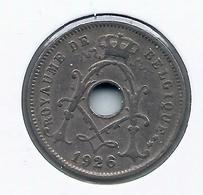 ALBERT I * 5 Cent 1926 Frans * Nr 9924 - 1909-1934: Albert I