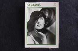Sp-Actrice,Italienne, 1940 - Isa Miranda  , Née En 1909 à Milan (Italie), Morte Le 8 Juillet 1982 à Rome ( Italie ) - Acteurs