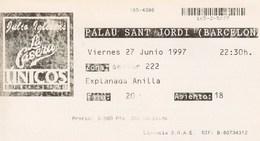 JULIO  IGLESIAS - UNICOS - GIRA 1997 - PALAU SANT JORDI - BARCELONA 27 06 1997 - Tickets - Entradas